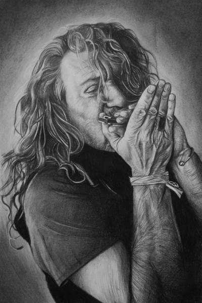Plant Drawing - Robert Plant by Steve Hunter