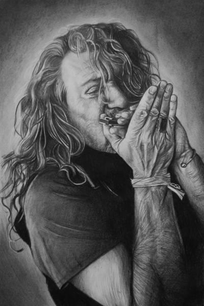 Plants Drawing - Robert Plant by Steve Hunter