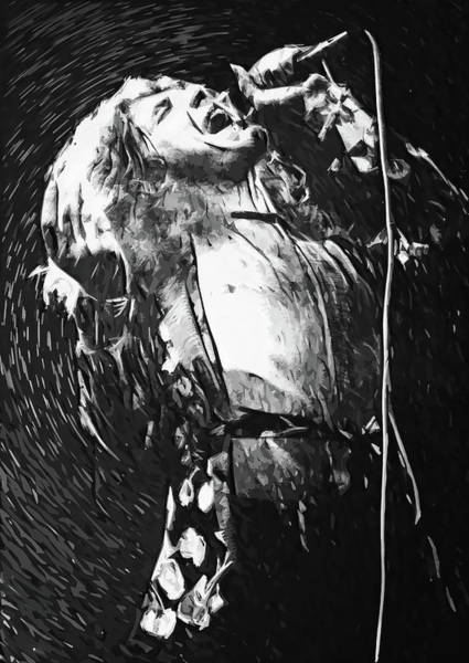 Wall Art - Digital Art - Robert Plant by Zapista Zapista