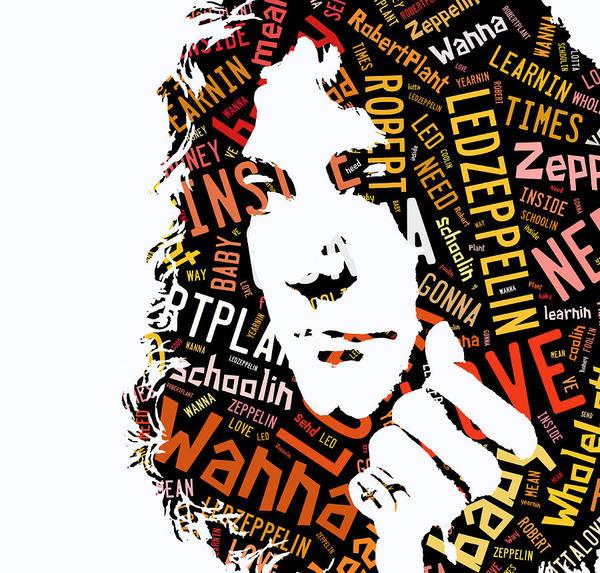 Wall Art - Mixed Media - Robert Plant Whole Lotta Love by Marvin Blaine