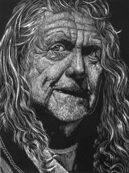 Drawing - Robert Plant by William Underwood