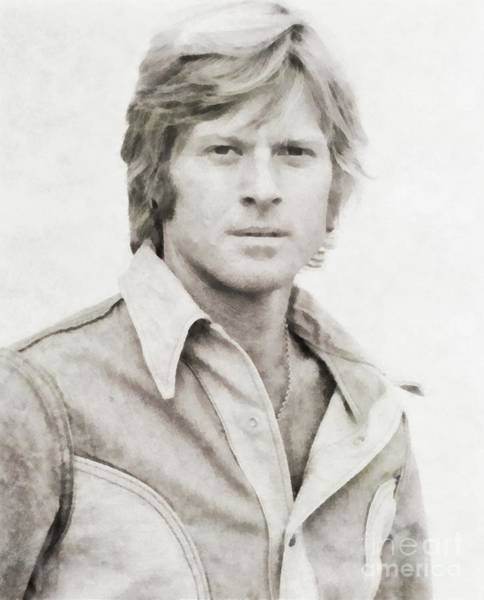 Wall Art - Painting - Robert Redford, Actor by John Springfield