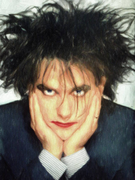 Indie Wall Art - Painting - Robert Smith by Zapista Zapista