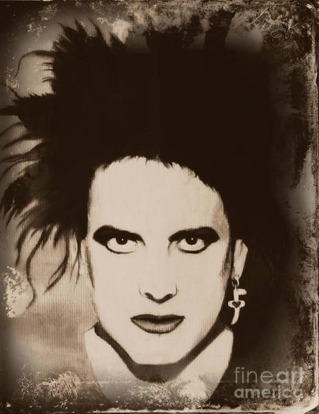 Wall Art - Painting - Robert Smith The Cure by Jeepee Aero