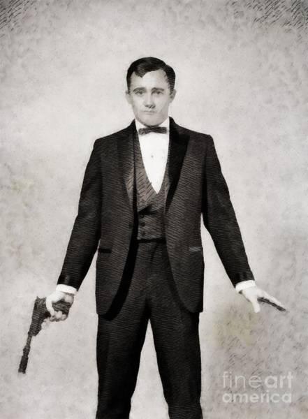 Uncle Painting - Robert Vaughn, Vintage Actor By John Springfield by John Springfield