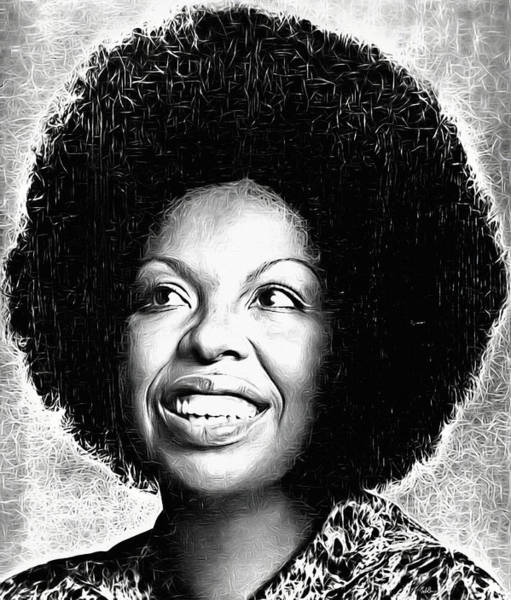 Wall Art - Digital Art - Roberta Flack by Mal Bray