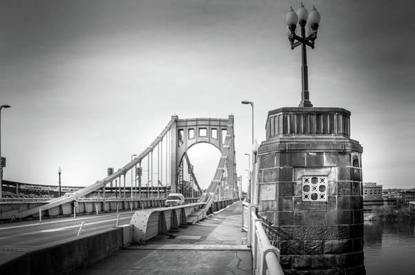 Wall Art - Photograph - Roberto Clemente Bridge In Black And White by Art Spectrum