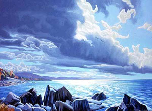 Wall Art - Painting - Robertson Cove Lake Superior by Paul Gauthier