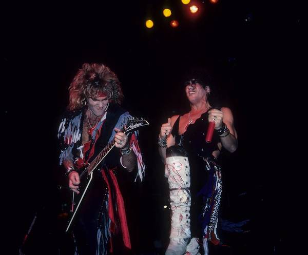 Photograph - Robin Crosby And Stephen Pearcy Of Ratt by Rich Fuscia