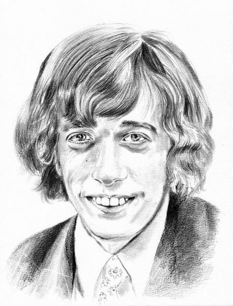 Shadows Drawing - Robin Gibb Drawing by Suzann's Art