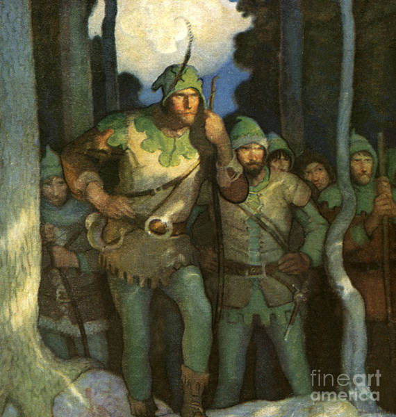 Thief Painting - Robin Hood And His Merry Men by Newell Convers Wyeth