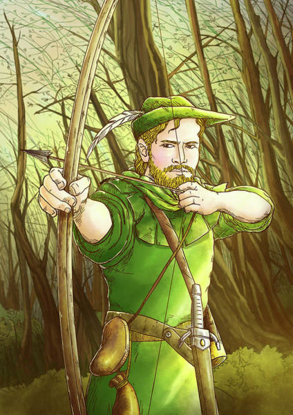 Painting - Robin  Hood In Sherwood Forest by Reynold Jay
