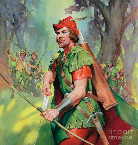 Sword Painting - Robin Hood by James Edwin McConnell