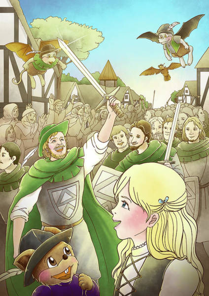 Painting - Robin Hood Marches Into London by Reynold Jay