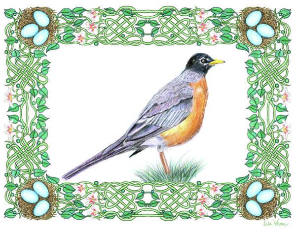 Drawing - Robin In Spring by Lise Winne