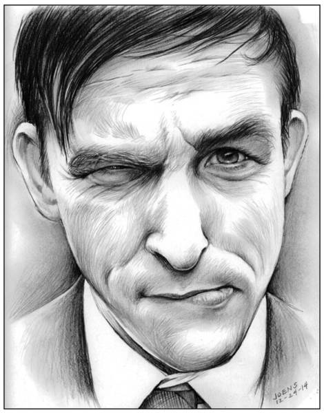 Television Drawing - Robin Lord Taylor II by Greg Joens