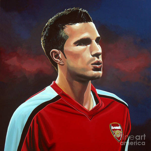 Golf Painting - Robin Van Persie by Paul Meijering