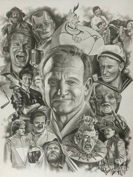 Hook Drawing - Robin Williams by James Rodgers