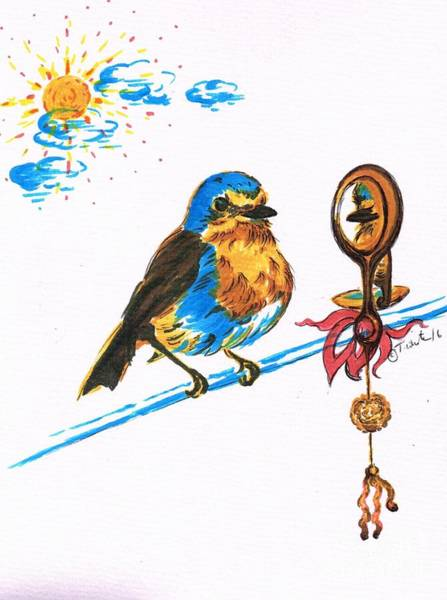 Juicy Drawing - Robins Day Tasks by Teresa White