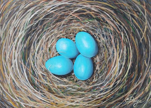 Painting - Robin's Eggs by Emily Page