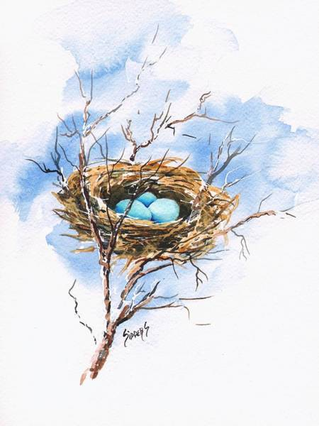 Painting - Robin's Nest by Sam Sidders