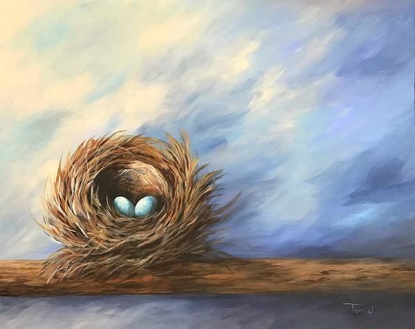 Wall Art - Painting - Robin's Two Eggs by Torrie Smiley