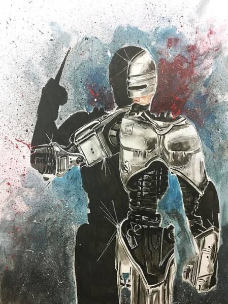 Painting - Robocop by Joel Tesch