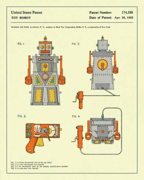 Robot Wall Art - Digital Art - Robot 1955 by Jazzberry Blue