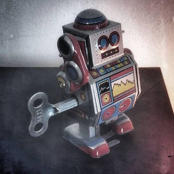 Steampunk Wall Art - Photograph - #robot #cyber #cyborg #steampunk by Michele Stuppiello