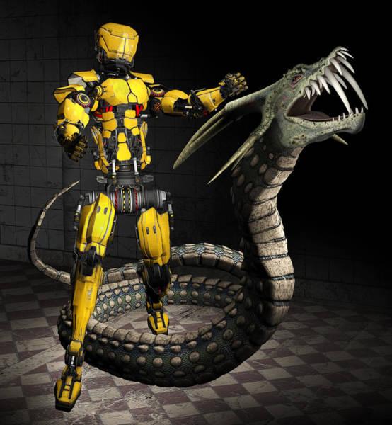 Digital Art - Robot Series 01 by Carlos Diaz
