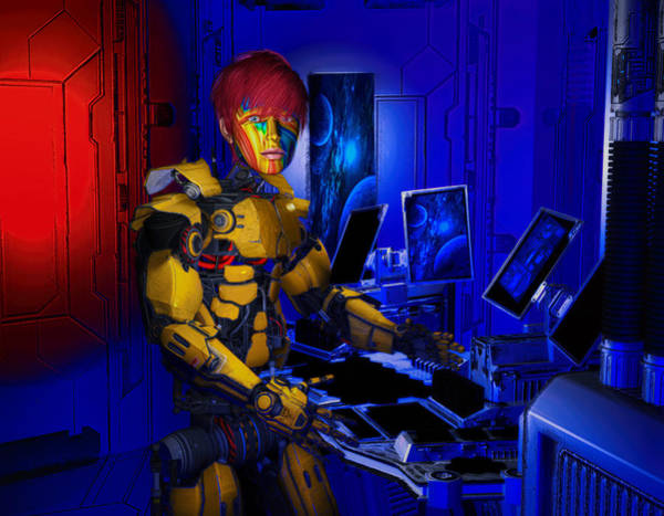 Digital Art - Robot Series 02 by Carlos Diaz