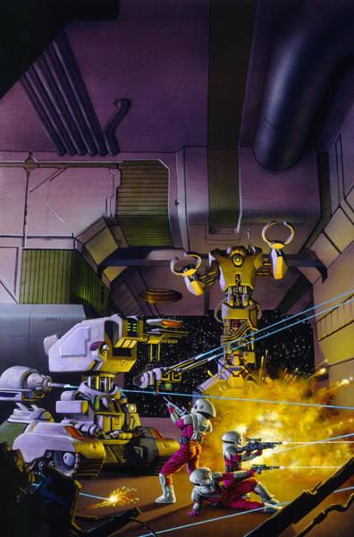Wall Art - Painting - Robot Wars by Richard Hescox