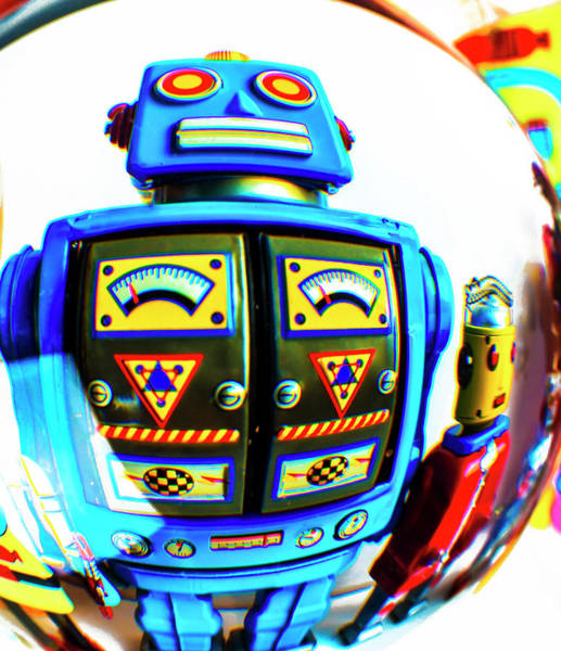 Wall Art - Photograph - Robots In Crystal Ball by Garry Gay