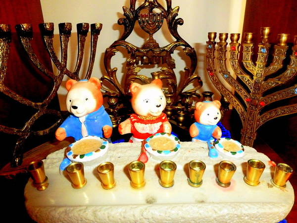 Photograph - Rob's Menorah Collection  by Beth Akerman