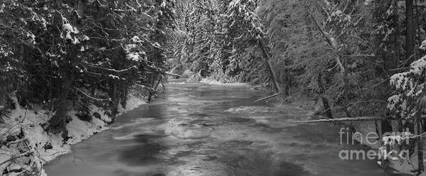 Photograph - Robson River Black And White by Adam Jewell