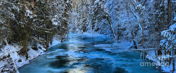 Photograph - Robson River Winter Panorama by Adam Jewell