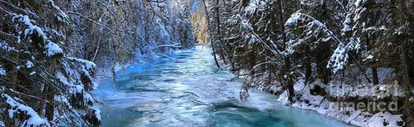 Photograph - Robson River Winter Panoramic by Adam Jewell