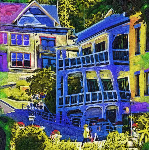 Harbor Scene Digital Art - Roche Harbor Street Scene by Kirt Tisdale