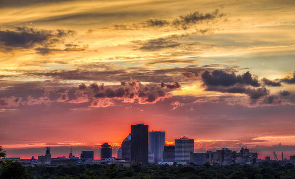 Wall Art - Photograph - Rochester Skyline by Mark Papke