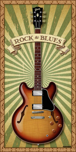 Wall Art - Digital Art - Rock And Blues 335 by WB Johnston