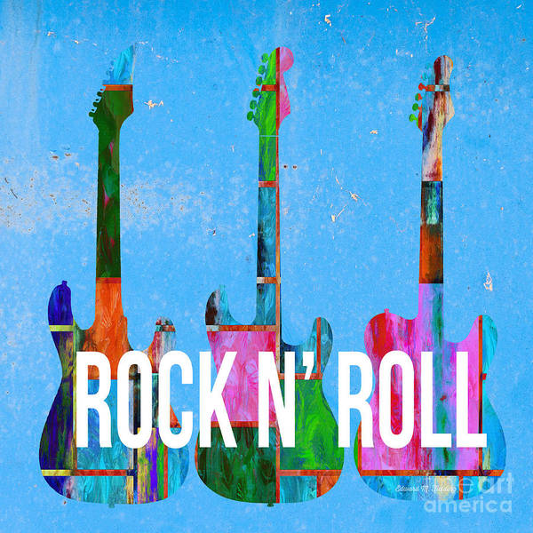 Photograph - Rock And Roll Guitars by Edward Fielding