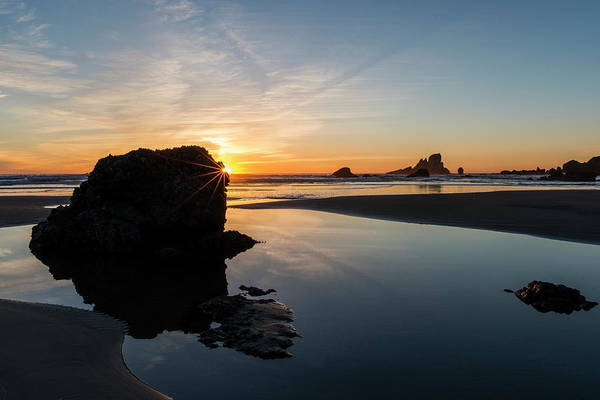 Photograph - Rock And Sunset by Robert Potts