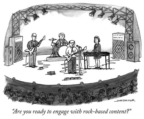 Concerts Drawing - Rock Based Content by Joe Dator
