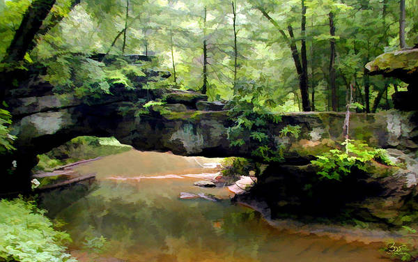 Photograph - Rock Bridge Red River Gorge by Sam Davis Johnson