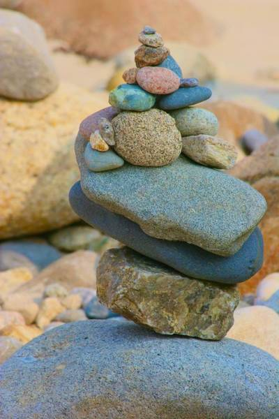 Photograph - Rock Cairn by Polly Castor