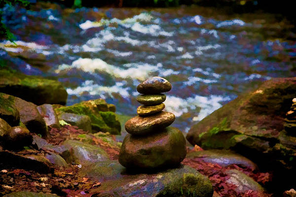 Photograph - Rock Cairn At Amethyst Brook by Richard Goldman