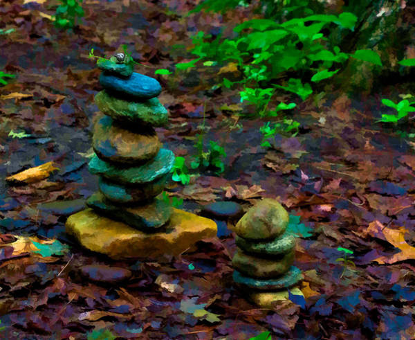 Photograph - Rock Cairns At Amethyst Brook by Richard Goldman