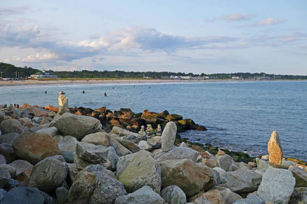Photograph - Rock Cairns Of Narragansett Beach Narragansett Ri by Toby McGuire