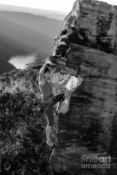 Photograph - Rock Climbing In West Virginia by Dan Friend