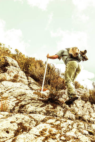 Spikes Photograph - Rock Climbing Mountaineer by Jorgo Photography - Wall Art Gallery
